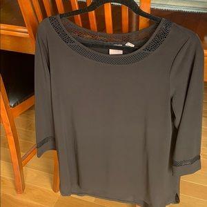 Black 3/4 sleeve Chico's shirt